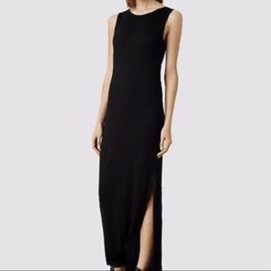 All Saints Maxi Viscose Dress Size 6 CL